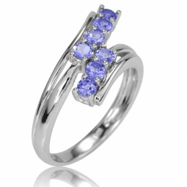 Ladies Shipton and Co Silver and Tanzanite Ring RQA594TZ