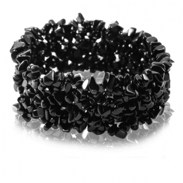 Easy Stretch Bracelet Glints with 285cts of Obsidian for Only £25