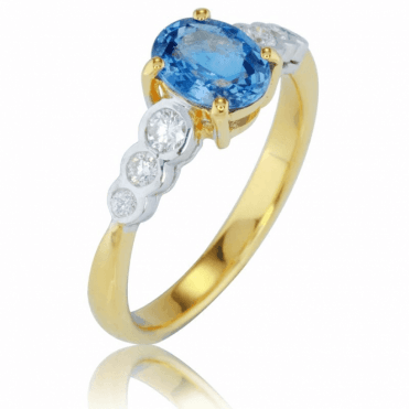 Ladies Shipton and Co Exclusive 9ct Yellow Gold and Ceylon Sapphire Ring S08818CSD