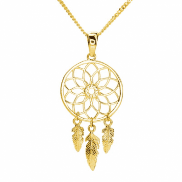 Ladies Shipton and Co 9ct Yellow Gold Pendant including a 16 9ct Chain TAR623NS