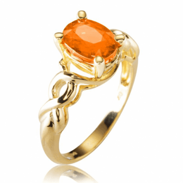 Ladies Shipton and Co Exclusive 9ct Yellow Gold and Mandarin Garnet Ring S08774SG
