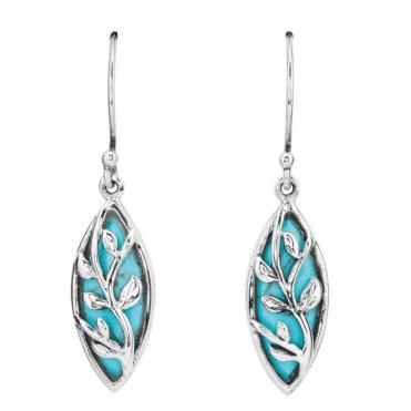 Overlaid Turquoise Earrings