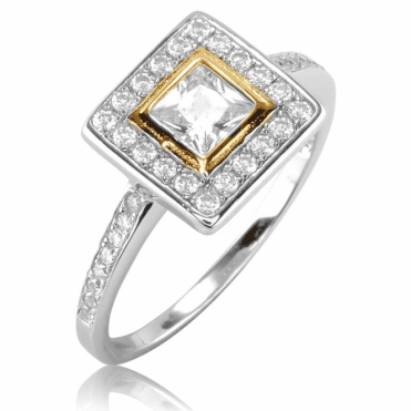 Ladies Shipton and Co Gold and Silver Citrine Ring TAO043CZ
