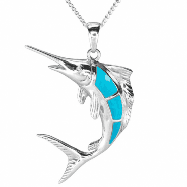 Ladies Shipton and Co Silver and Turquoise Pendant including a 16 Silver Chain TSV064TQWT
