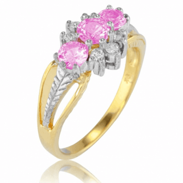 Ladies Shipton and Co Exclusive 9ct Yellow Gold and Pink Sapphire Ring RYD160PSD