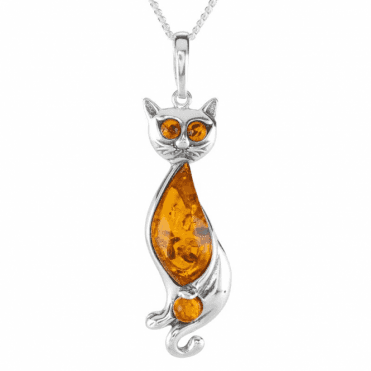 Ladies Shipton and Co Silver and Amber Pendant including a 16 Silver Chain TFE282AB