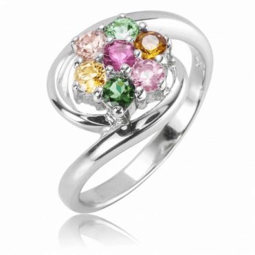 Ladies Shipton and Co Silver and Tourmaline Ring RQA611TT