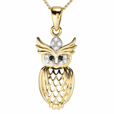 Ladies Shipton and Co 9ct Yellow Gold and Cubic Zirconia Pendant including a 16 9ct Chain TAR636CZON