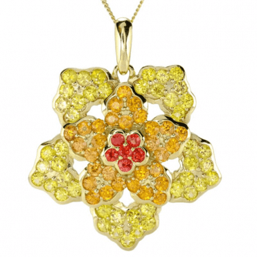 Ladies Shipton and Co 9ct Yellow Gold and Golden Sheen Sapphire Pendant including a 16 9ct Chain PYG089FS