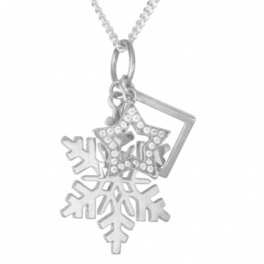 Ladies Shipton and Co Silver and Cubic Zirconia Pendant including a 16 Silver Chain TAO060CZ