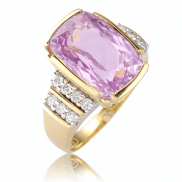 Ladies Shipton and Co 9ct Yellow Gold and Kunzite Ring RYD171KZD