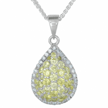 Ladies Shipton and Co Silver and Cubic Zirconia Pendant TAO061CZ