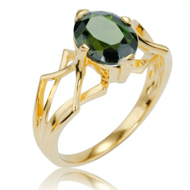 Ladies Shipton and Co 9ct Yellow Gold and Green Tourmaline Ring RYG080GT