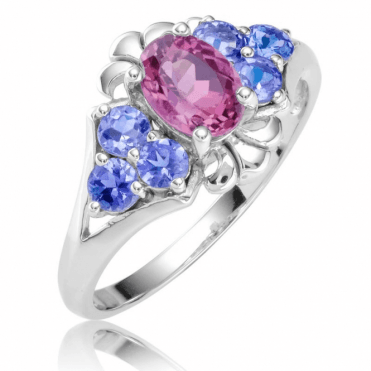 Ladies Shipton and Co 9ct White Gold and Red Tourmaline Ring RWG091RTTZ