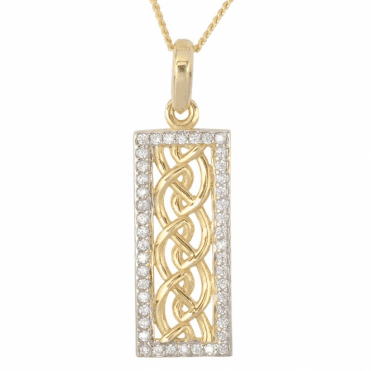 Ladies Shipton and Co 9ct Yellow Gold and Cubic Zirconia Pendant TVG001CZ