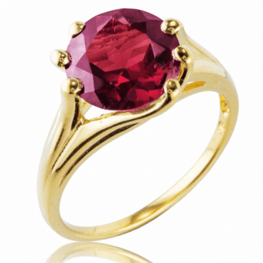 Ladies Shipton and Co 9ct Yellow Gold and Garnet Ring RYG092GR