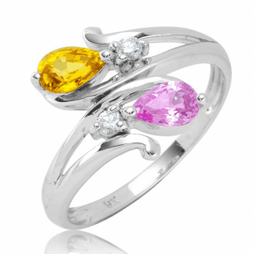 Ladies Shipton and Co 9ct White Gold and Pink Sapphire Ring RWD168PSYSD