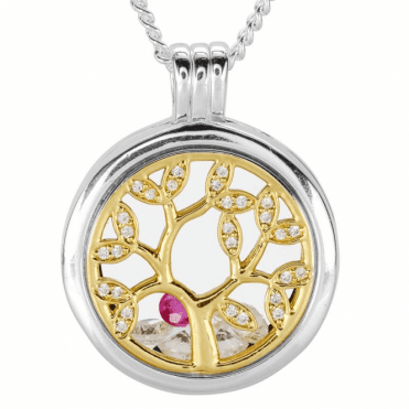 Ladies Shipton and Co Silver and Ruby Pendant TFE305RUCZ