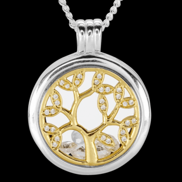 Ladies Shipton and Co Silver and Cubic Zirconia Pendant TFE305CZ