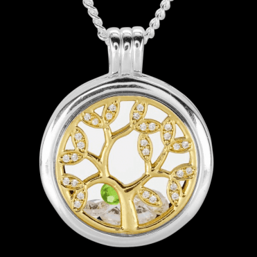 Ladies Shipton and Co Silver and Peridot Pendant TFE305PECZ
