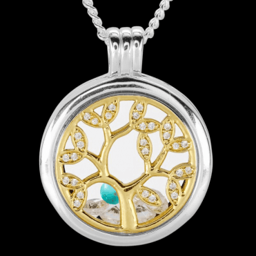 Ladies Shipton and Co Silver and Turquoise Pendant TFE305TQCZ
