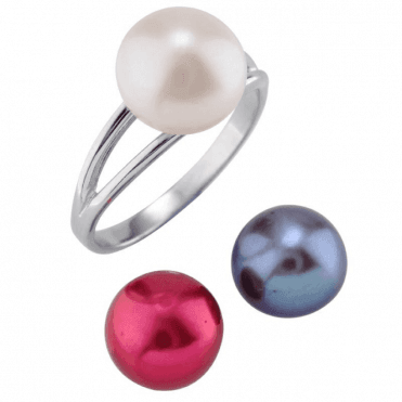 Ladies Shipton and Co Silver and Freshwater Pearls Ring TEN077FP