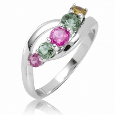 Ladies Shipton and Co Silver and Tourmaline Ring RQA641TT