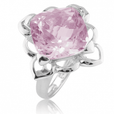 11ct Pink Amethyst in a Raised Lotus Setting