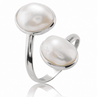 Baroque Pearl Ring Adjusts for a Comfort Fit