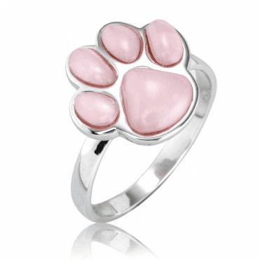 Pet Companion Ring in Pink Opal