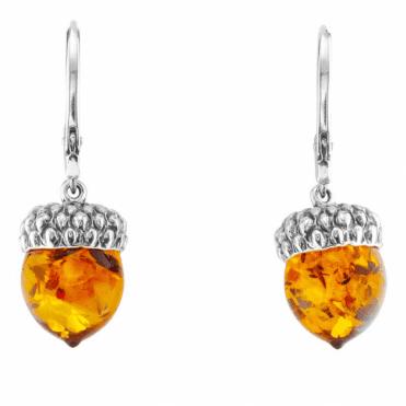 Amber Acorn  Earrings