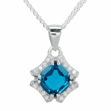 Diamond-bright Pendant with 2½cts of London Blue Topaz