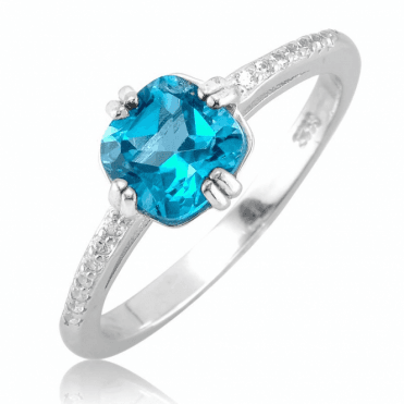 La Serenissima Ring with 2cts of London Blue Topaz