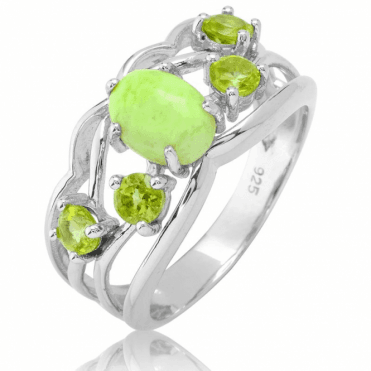 Scintillating Freshness of Lemon Chrysoprase & Peridot