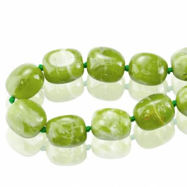 825cts of Tumbling Green Garnet the Prosperity Stone