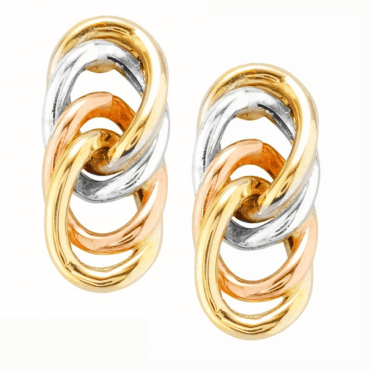 Seamless Loop Earrings of Tonal 9ct Gold Only £65