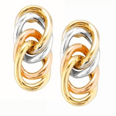 Seamless Loop Earrings of Tonal 9ct Gold Only £65
