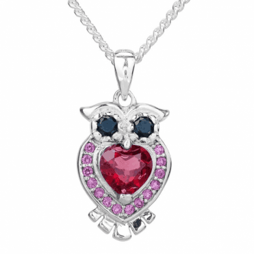 Starry Owl with 1½cts of Garnet, Black Spinel & Ruby