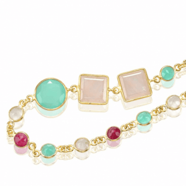 A Summer Ramble of Aquamarine, Rose Quartz & Ruby