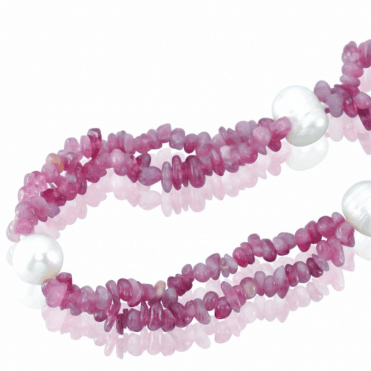 400cts of Pink Tourmaline & Pearls