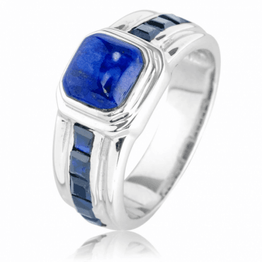Silver, Lapis & Dark Sapphire Ring Only £55