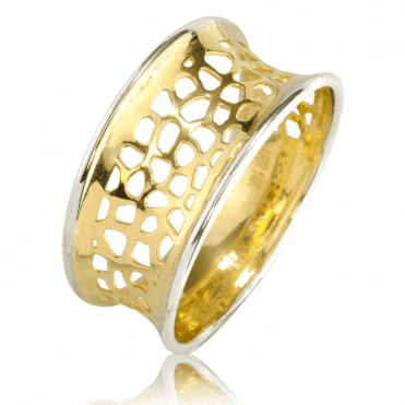 Originality of Concave Cutwork in 9ct Gold