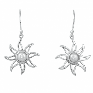 Mabe Pearl & Silver Earrings Only £25