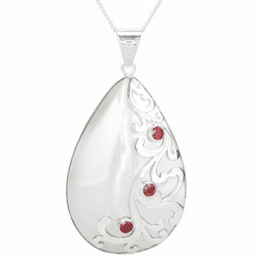 Nautilus Pendant with Beacons of Garnet