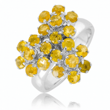 1ct Flower Clusters of Yellow Sapphire