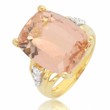 10cts Morganite Romanced with Fine Diamonds