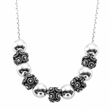 Sterling Silver Orbs & Flowers with Smooth Rolling Movement
