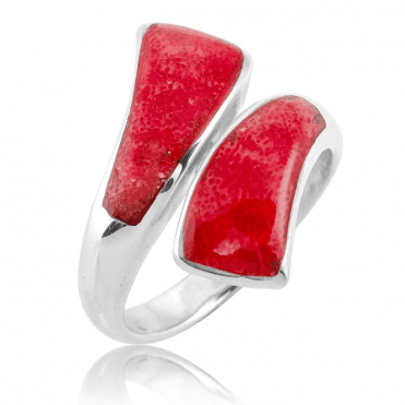 Fabulous Coral Ring with an Adjustable Comfort Fit