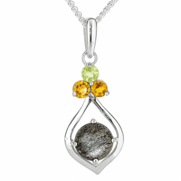 Labradorite Luxury Pendant with Citrine & Peridot