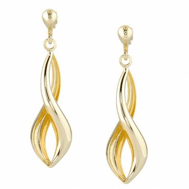 Swirling Infinity Earrings of 9ct Yellow Gold